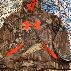 Camo with orange Under Armor hoodie